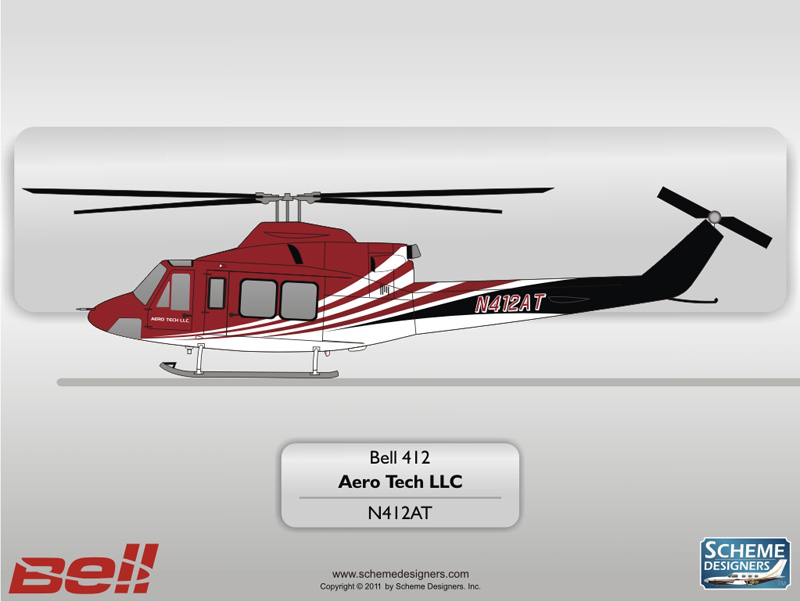 Bell 412 N412AT by Scheme Designers