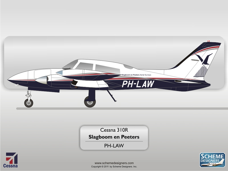 Cessna 310R PH-LAW by Scheme Designers
