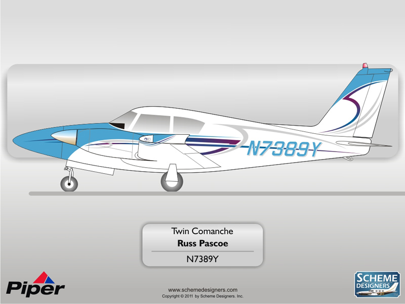 Piper Twin Comanche N7389Y by Scheme Designers